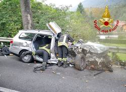 Incidente stradale a Casalzuigno