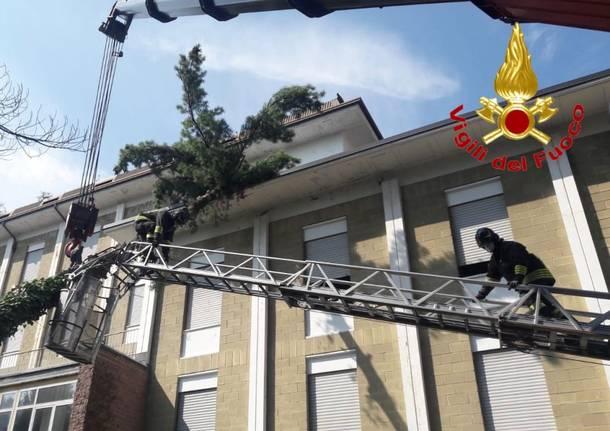 intervento vigili del fuoco lavena ponte tresa