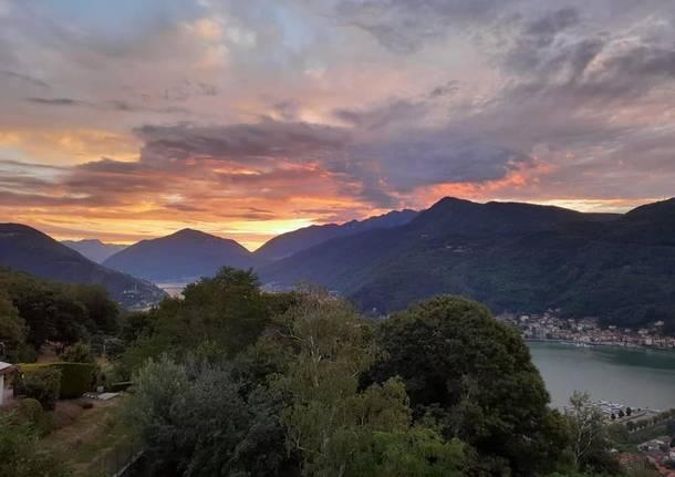 Lago Ceresio dal Villaggio Siba a Cuasso al Monte  - foto di Antonella Ghidini