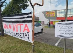 Manifestazione sul Sempione Legnano