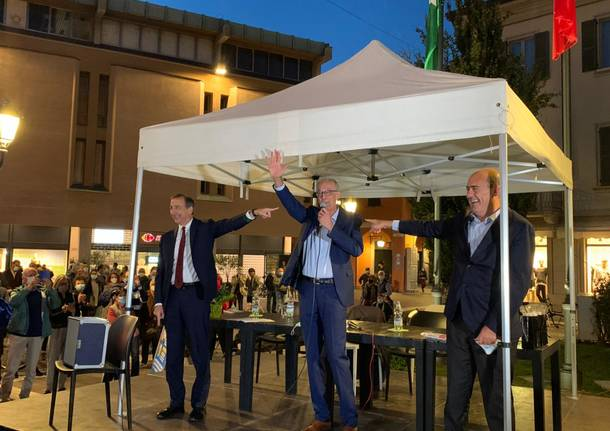 Nicola Zingaretti e Beppe Sala a Saronno per sostenere Airoldi