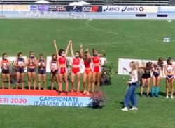 nuova atletica varese terzo posto staffetta allieve rieti