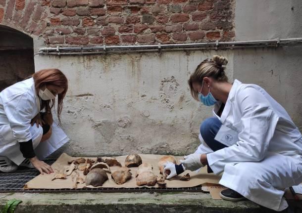 Insubria impegnata nello studio delle ossa storiche