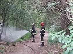 principio di incendio al parco alto milanese a Legnano