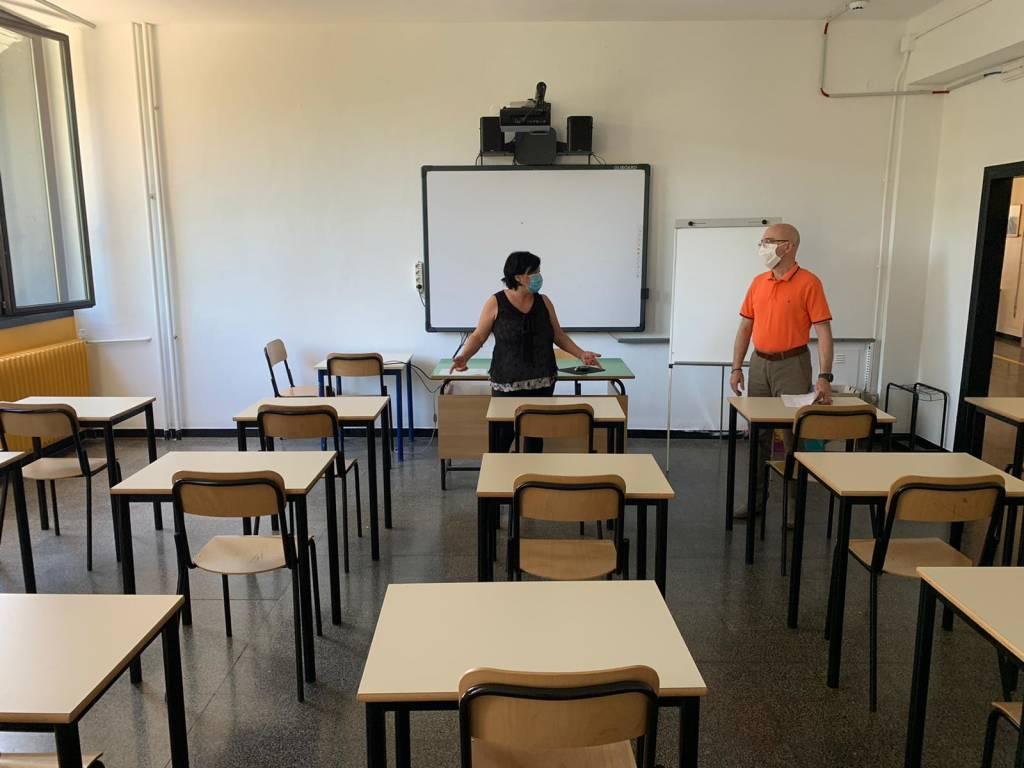 scuola coronavirus aula