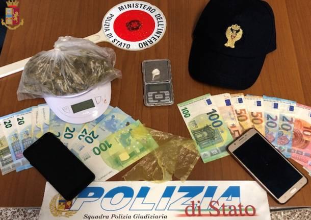 sequestro droga soldi spaccio luino polizia settembre 2020