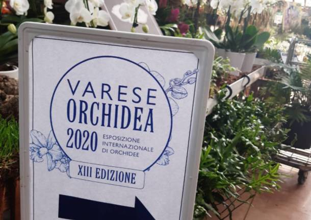 """Taglio del nastro per """"Varese Orchidea 2020"""""""