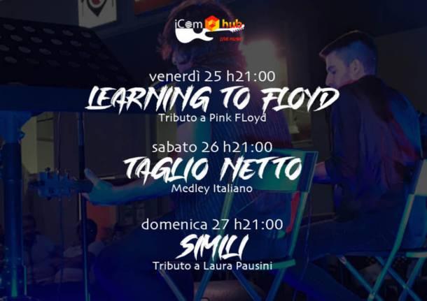 Tributi ai Pink Floyd e Laura Pausini da iComHub a Turate