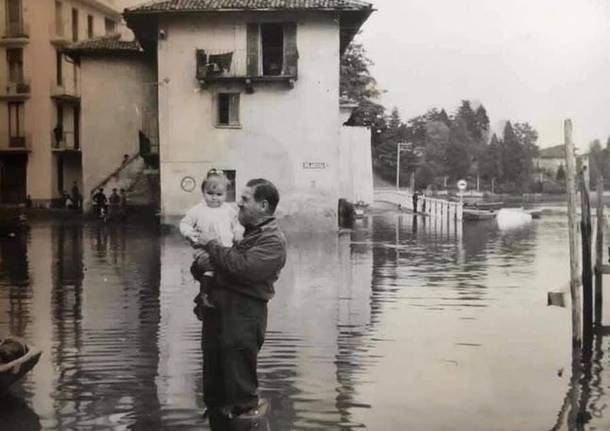 Acqua alta a Sesto Calende (1964) doto di Silvia Bazzana)