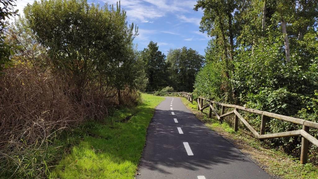 asfaltatura pista ciclabile corgeno