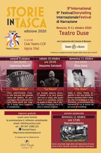 9° Festival Internazionale di Narrazione - Besozzo 9-11 ottobre 2020