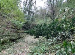 Maltempo, devastato il sentiero che porta alla Rocca di Orino