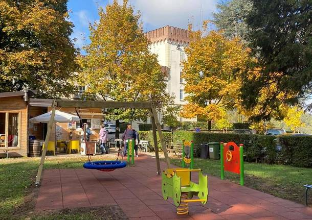 La nuova area giochi di Castiglione Olona
