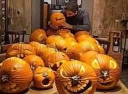 Le zucche di halloween di chef Barzetti a Malnate