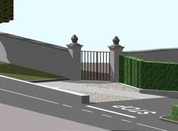 Cazzago Brabbia, nuovo ingresso cimitero
