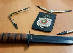 coltello hashish sequestro polizia locale busto arsizio