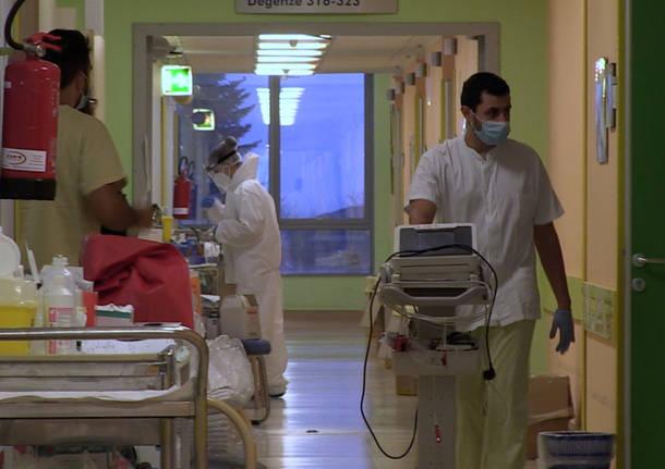 Il Covid Hub dell'ospedale di Varese