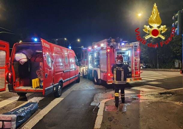 Incendio in Via Magenta a Varese