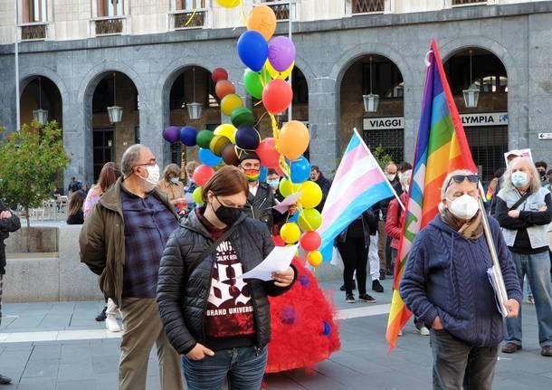 manifestazione per i diritti a favore del ddl contro l'omotransfobia e misoginia