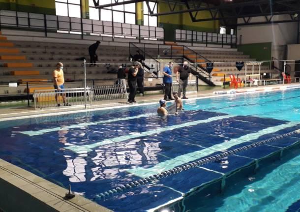 Piscina amovibile alla piscina di Legnano