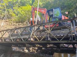ponte provvisorio curiglia con Monteviasco