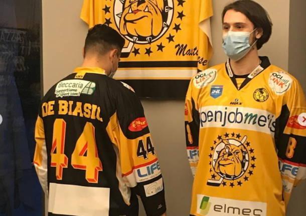 presentazione maglia mastini varese hockey su ghiaccio
