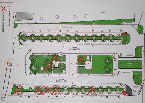 progetto piazza stazione Giovanni XXIII Gallarate