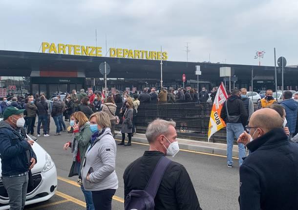 Protesta Airport Handling Malpensa