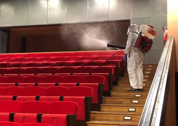 Sanificazione al Teatro Giuditta Pasta di Saronno