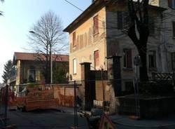 sgombero alle case di via dante a cerro maggiore
