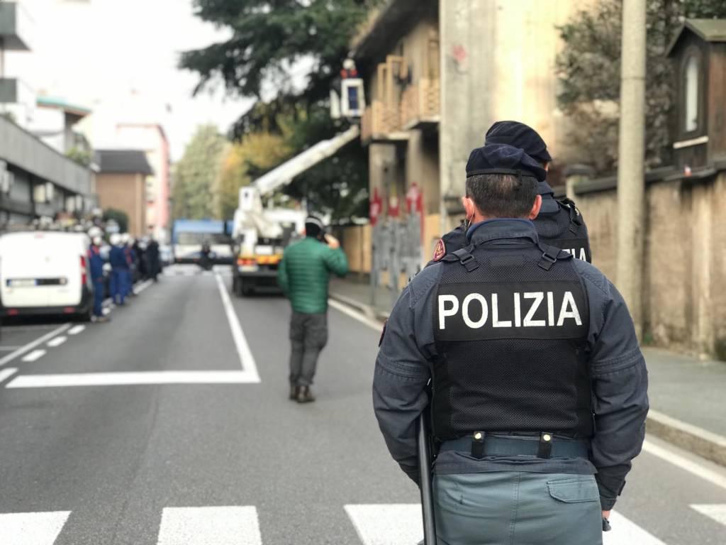 Sgombero della casa occupata in via San Francesco a Saronno