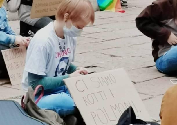 Varese - Manifestazione dei ragazzi di Friday for future - ottobre 2020 - foto di Francesca Marutti