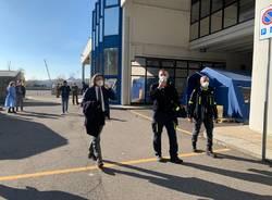 Il punto tamponi della protezione civile alle Fontanelle- Visita di Pietro Foroni