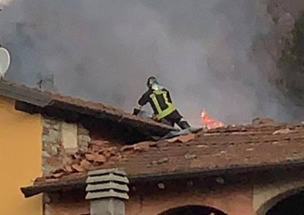 Incendio a Cugliate Fabiasco