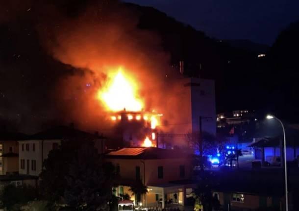 incendio mulino maroggia - foto facebook