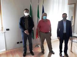 incontro tra dg Porfido, Emanuele Monti e sindaco Cassani