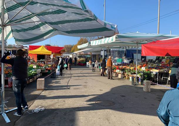 """L'ultimo mercato di Varese """"a pieno regime"""" prima del lockdown"""
