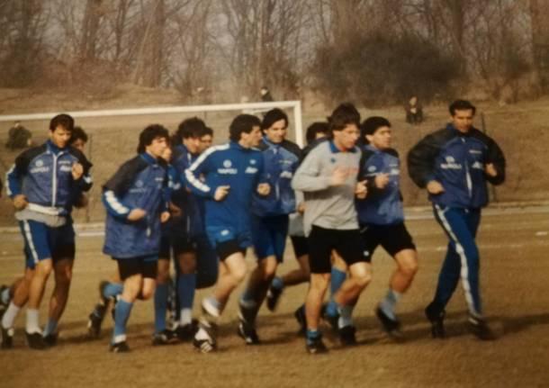 Le foto dell'allenamento di Maradona ad Albizzate nel 1988