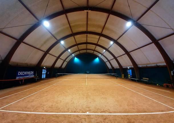 Nuova illuminazione a led per il centro sportivo di via Melzi a Rescaldina
