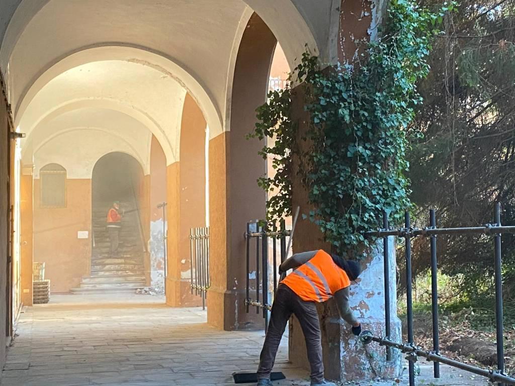 Primi lavori alla caserma Garibaldi