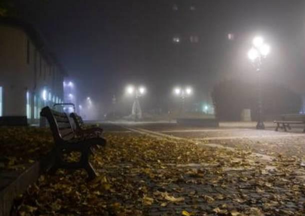 Saronno avvolta dalla nebbia