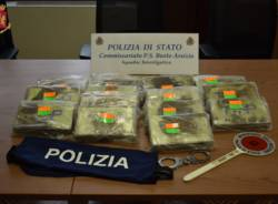 sequestro cocaina polizia commissariato busto arsizio