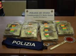 sequestro cocaina polizia commissariato busto arsizio