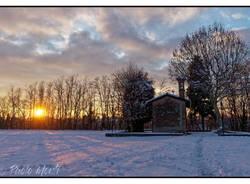 La neve e il tramonto
