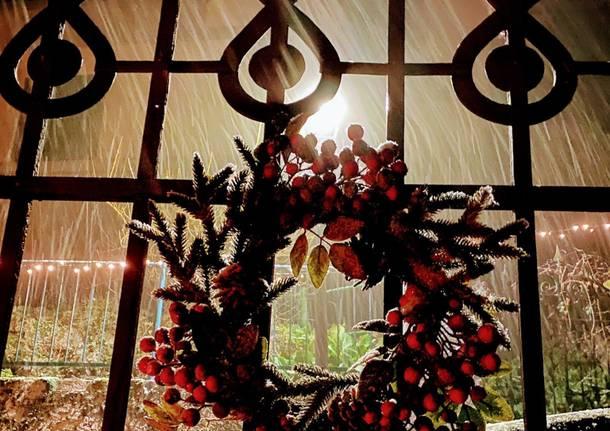Con la neve, aria di Natale al sacro Monte