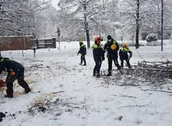Gli interventi della Prociv Legnano per la nevicata