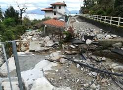 I lavori per l'esondazione del torrente Selva Spessa a Baveno