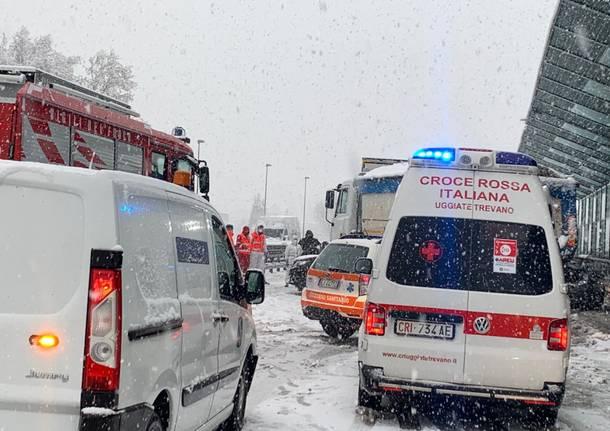 Incidente stradale Castronno A8 4 dicembre 2020