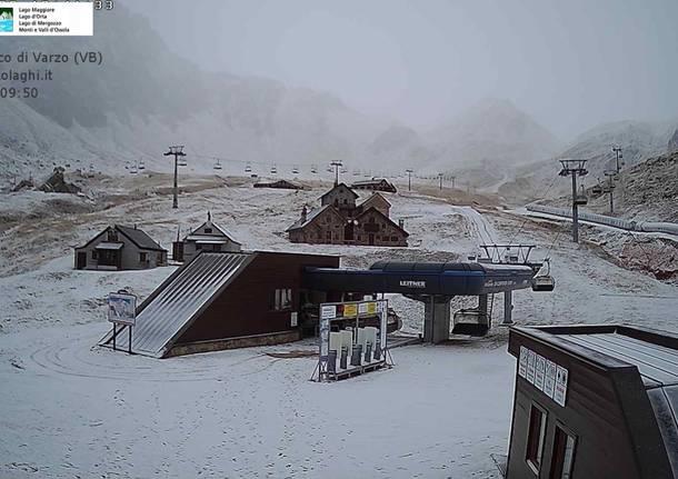 La prima neve di dicembre nelle valli del Piemonte