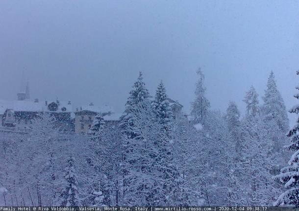 La neve imbianca le valli del Piemonte
